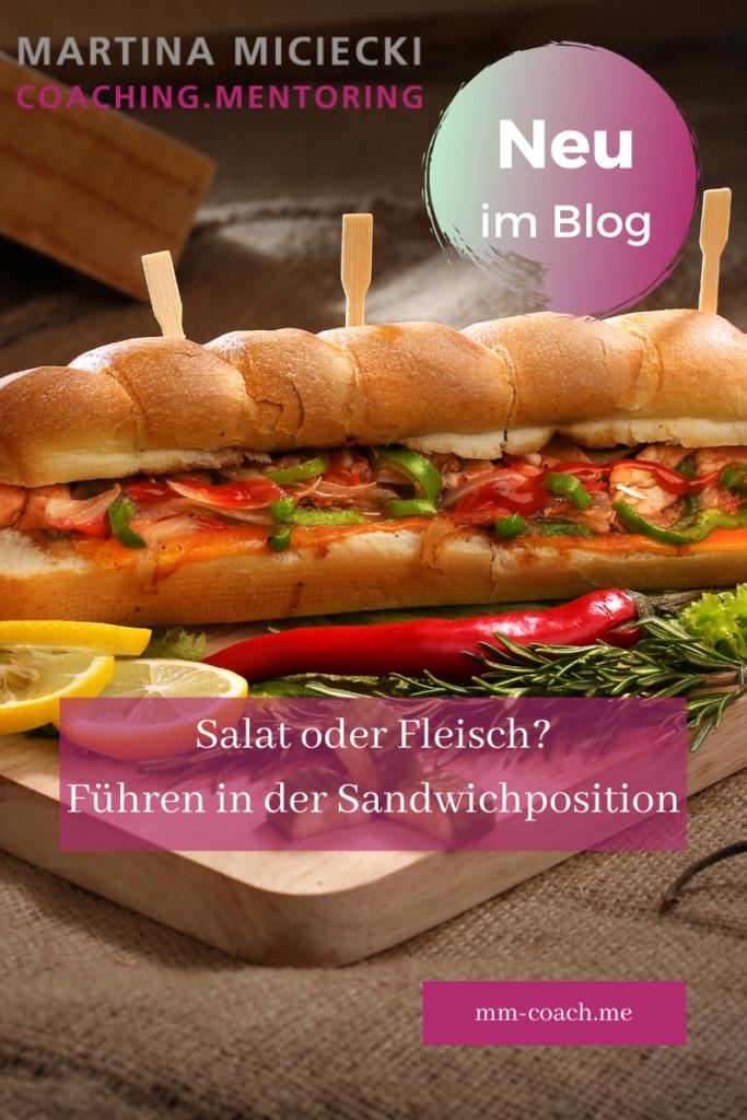Führen in Sandwichposition