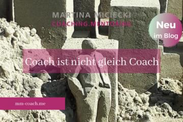 Den passenden Coach finden