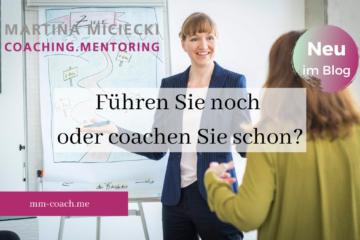 Führungskraft und Coach