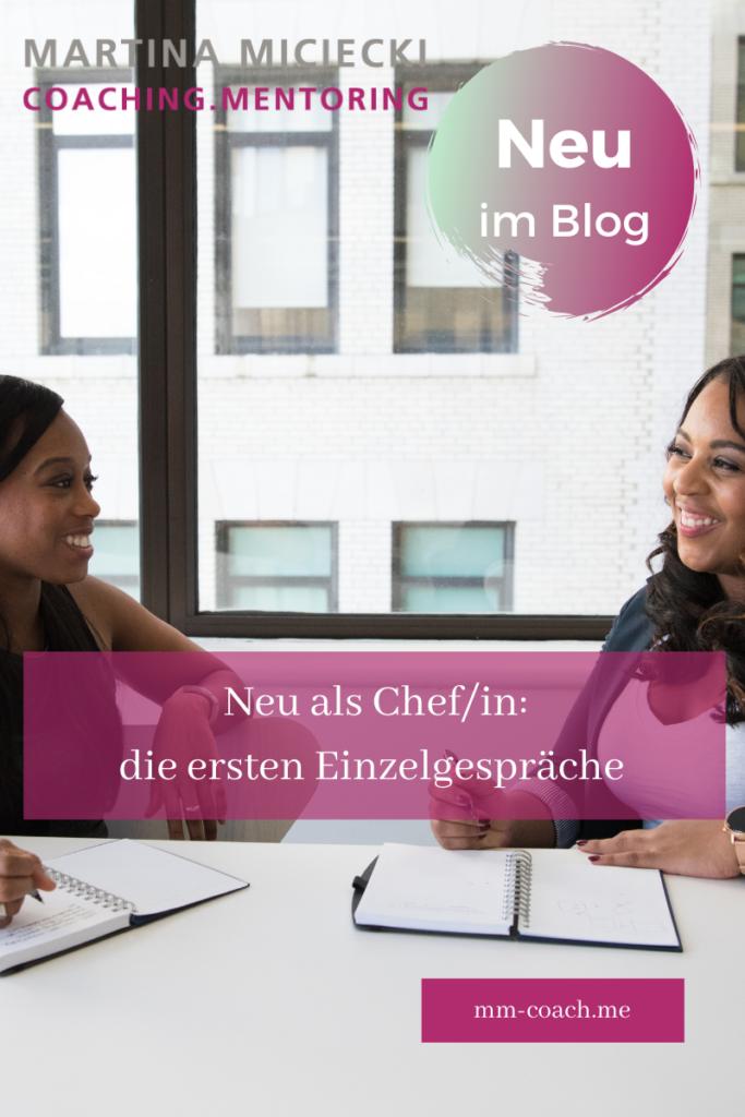 Neu als Chef/in: erste Einzelgespräche
