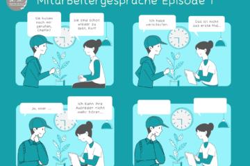 Comic Mitarbeitergespräche: Zuspätkommer und ihre besten Ausreden